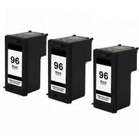 3 PK HP 96 black Ink Cartridges for HP Photosmart 2610 2710 8150 8450 Printer