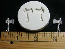 Warrior Axe Polymer Clay Mold 2 in 1 (#MD1064)