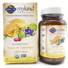 Garden Of Life MyKind Organics Vegan D3 2,000 IU Raspberry Lemon 30 Chewables