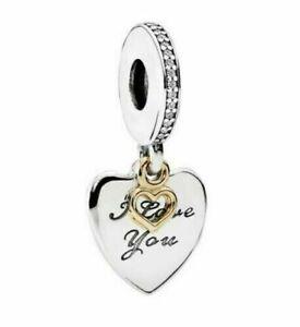 Genuine PANDORA I Love You FOREVER Pendant Charm Silver S925 ALE 792042CZ