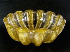 große Murano- Glasschale mit Blattgold / Barovier & Toso / Cordonato d'oro