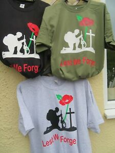 Lest we forget - Royal British Legion T-shirts - 10% to RBL now in 4 colours
