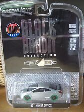 Greenlight Black Bandit 2011 Honda Civic Raw 1 of 48  Green Machine 1/64 Diecast