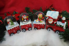 Christmas Santa Waterball Snow Globe Train Decoration Ornament