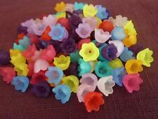 120 pce Colour Mix Acrylic Tulip Flower Beads 10mm x 7mm