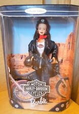 Harley Davidson Motorcycle Barbie 3 Brunette Collector Doll 1999 #22256