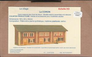 Colinter Productions - maquette HO - le Coron 3 demi-maisons pour fond de décor