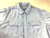 Old Navy Mens Short Sleeve Button Down Camp Shirt 2 Pocket Epaulets Size Large