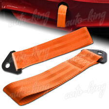 UNIVERSAL ORANG HEAVY DUTY FRONT/REAR CAR HIGH STRENGTH TOWING HOOK STRAP BUMPER