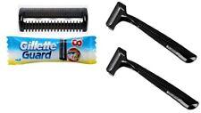 96 Gillette Guard Razor Blades Cartridges with 2 Razors Gilete Safety Shave