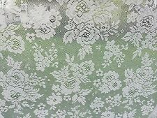 4 Piece Set Gray Lace Curtains Window Coverings Drapes - Cottage Romantic Shabby