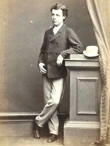 CDV Photo Handsome Young Man Boy Bowler Hat B.C Boake Sydney Australia 1860s-70s