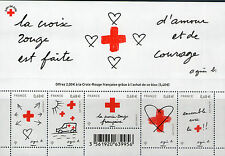 FEUILLET F4001 NEUF XX TIMBRES 5001-5005 - CROIX ROUGE 2015 - AMOUR ET COURAGE