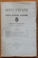 1918 - Revue Africaine - Société Historique Algérienne - N°294
