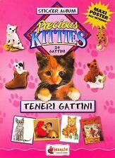 """MERLIN: ALBUM FIGURINE """"Teneri Gattini"""" - COMPLETO (+ cuccioli e Poster)"""