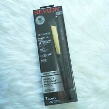 New REVLON 1 inch Perfect Straight Smooth Brilliance 455F Ceramic Flat Iron
