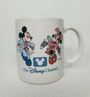 Vintage Disney Channel Coffee Mug Mickey & Minney Mouse Dancing Ceramic Cup