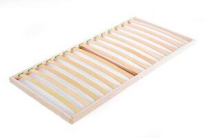 Slatted bed base80 x 200 cm Single Beech Wood Orthopedic Easy to Assemble Slats