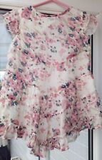 Little Girls pretty Summer Dress, Floral Frilly Design age 5-6 years by F&F