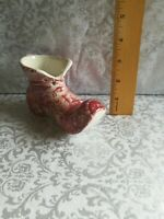 Vtg Old Foley James Kent Red Transferware Boot Shoe Staffordshire Eng pottery