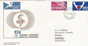 RSA2103) South Africa Commemorative FDC, 7VIIA69, SA Medical Congress 11, addres
