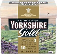 YORKSHIRE GOLD TEA 80 TEA BAGS 250G