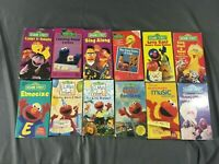 Lot of 12, Sesame Street VHS Tapes, Elmo, Big Bird, Cookie Monster