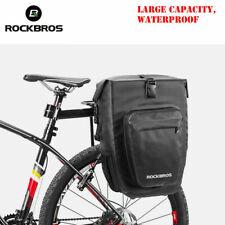 ROCKBROS Waterproof Cycling Rear Seat Pannier Black Bag Cycle Bike Rack Pack 2pc