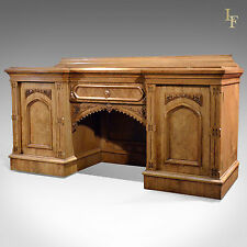 Antique Sideboard Victorian Buffet Large Light Oak Cabinet English C19th c.1880