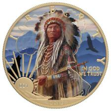 USA 2019 $1 LIBERTY Faces of America - Sitting Bull 1 Oz Silver Coin