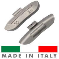 100 X Pesi Equilibratura cerchi ferro da 30g - Contrappesi zinco MADE IN ITALY