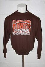 VTG Cleveland Browns Dawg Dog Pound Brown Crewneck Sweatshirt Sz XL