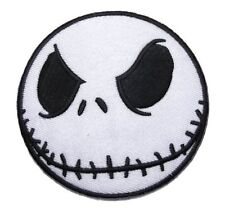 "Nightmare Before Christmas Jack Skellington Head 3"" Diameter Embroidered Patch"