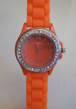 Fashion Candy Colors Jelly Silicone Rhinestone Girl's Women's Casual Wrist Watch