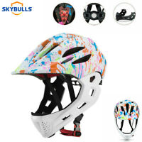 Children Full Face Cycling Helmet BMX Downhill MTB Off-Road Motorcycle Helmet
