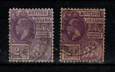 British Guiana 1921 1927 2c purple  SG274 Used