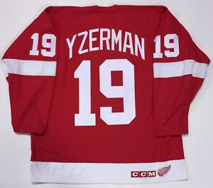 STEVE YZERMAN 1991 DETROIT RED WINGS CCM NHL 75th JERSEY SIZE X-LARGE