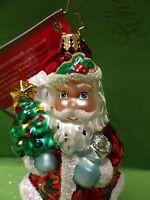 Christopher Radko Festive Visitor Glass Ornament