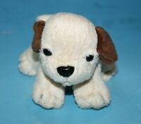 "Bear Co Intl DOG Red Collar Small 5"" Mini Plush Beige Brown Ear Stuffed Soft Toy"