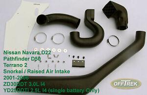 NISSAN NAVARA D22 (to fit) 2001-2006 / Snorkel / Raised Air Intake VC34NI0201