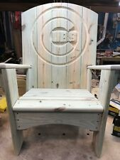 Handcrafted Chicago Cubs Adirondack Chair