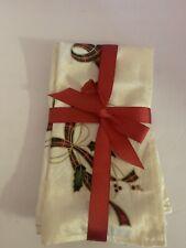 Lenox Holiday Nouveau Quilt-set Of 4 Reversible Napkins