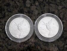 2015 Mexico 1/2oz Silver Libertad Rare Lot of 2 BU, No Reserve & Free Shipping!