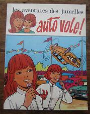 ANCIENNE BD LES AVENTURES DES JUMELLES AUTO VOLE ! CASCADEURS 1974