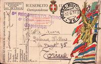 1918 - FRANCHIGIA POSTA MILITARE 76 TENENTE 5° RGT GENIO ZONA DI GUERRA C11-301