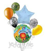 7 pc Wild Kingdom Happy Birthday Balloon Bouquet Party Decoration Safari Jungle