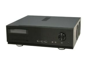 Antec Fusion Media Center Max Case (Black) with remote and internal components.