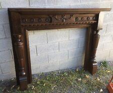 Victorian Carved Walnut Fireplace Mantel