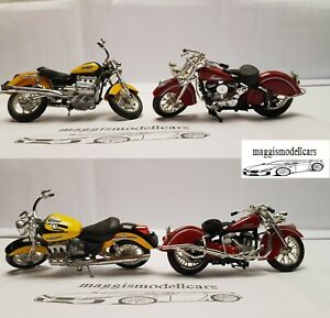 Honda F6C + Indian Motorräder Modelle aus Sammlung Maßstab 1:18 Maisto