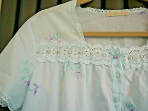 Marks & Spencer green lilac night gown nighty size 12-14 petite short night wear